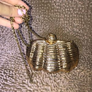 Gold Vintage Clutch and Crossbody bag
